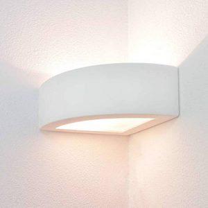 Plâtre lampe lampe d'angle en plâtre applique e27 blanc de la marque Licht-Erlebnisse image 0 produit