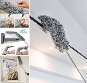 Plumeau Télescopique Microfibre Portable, Duster extensible pliable,Duster Statique pour la Maison, le Bureau, la Voiture - 280 cm (Gris) de la marque Mikuyou image 0 produit