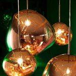 Pointhx Simplicité nordique Transparent coloré verre pendentif lumière Lave Lustre Postmodern E27 1-lumière Restaurant LED Pendentif Suspension Lampe Galeries Salle d'exposition Café Commercial Plafond éclairage ( Color : Gold-S ) de la marque Pointhx image 2 produit