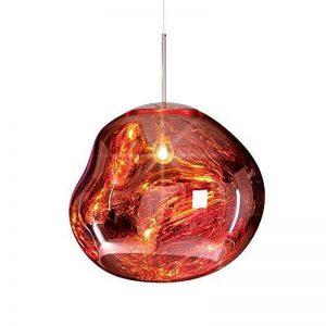 Pointhx Simplicité nordique Transparent coloré verre pendentif lumière Lave Lustre Postmodern E27 1-lumière Restaurant LED Pendentif Suspension Lampe Galeries Salle d'exposition Café Commercial Plafond éclairage ( Color : Red-S ) de la marque Pointhx image 0 produit