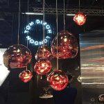 Pointhx Simplicité nordique Transparent coloré verre pendentif lumière Lave Lustre Postmodern E27 1-lumière Restaurant LED Pendentif Suspension Lampe Galeries Salle d'exposition Café Commercial Plafond éclairage ( Color : Red-L ) de la marque Pointhx image 2 produit