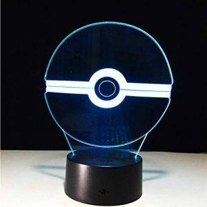 Pokemon Go Action Figure 3D Rgb Lampe 7 Changement De Couleur Télécommande Tactile Interrupteur Chambre Bureau Lampe De Table Pour Enfants Cadeau Night Light de la marque Eqwr image 0 produit