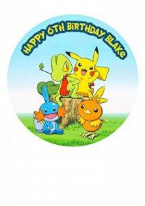 Pokémon Pikachu personnalisé gâteau Sucre papier 19,1cm M8 de la marque Fabulous Cake Toppers image 0 produit