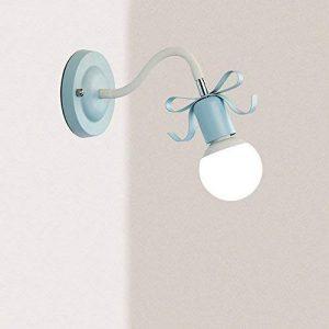 Princess Chambre d'enfant noeud papillon Applique murale Warm romantique Creative en toile murale Lampe de couloir Chambre Lit Metal kann la gebogenen Wall Light E27* 1 de la marque ZXMING image 0 produit