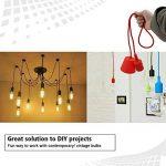 Princeway Couleur Silicone Luminaire Suspension- Style Européen Moderne IKEA Lampe Pendante & Lampe Plafonnier- DIY Installation Facile pour Éclairage Cuisine, Salle À Manger, Salon, Chambre D'enfants et de Restaurant (Vert) de la marque Princeway Lightin image 3 produit