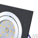 Projecteur LED encastrable orientable Star carré Noir/Brossé avec x 4W LED Blanc froid 230V IP20Spot de plafond Lampe encastrable au plafond encastrable Spot Plafond Lampe encastrable au plafond Spot Moderne 6er Set de la marque JVS image 1 produit