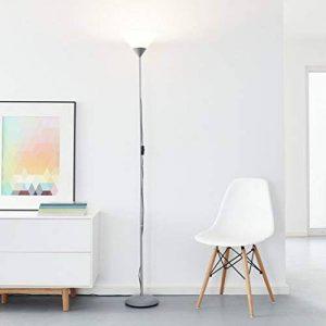 Projecteur plafonnier LED classique, 1x 10W E27 LED E27 incl., 810 lumens, 2700K blanc chaud, métal / plastique, argent/blanc de la marque Lightbox image 0 produit