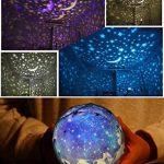 Projecteur rotatoire de lumière de nuit, lampe de projection de chevet d'enfants, ciel étoilé a mené la lumière de nuit pour des enfants, lumière de nuit de projection d'étoile de lune, lampe de décoration à la maison pour des enfants / enfants Chambre, c image 2 produit