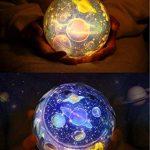 Projecteur rotatoire de lumière de nuit, lampe de projection de chevet d'enfants, ciel étoilé a mené la lumière de nuit pour des enfants, lumière de nuit de projection d'étoile de lune, lampe de décoration à la maison pour des enfants / enfants Chambre, c image 1 produit