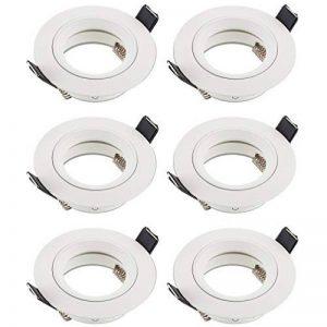 Projecteurs encastrés SEBSON - Blancs - LED/halogène, Aluminium, Weiß, 6er Set de la marque sebson image 0 produit