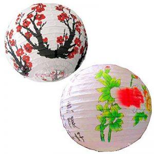[Prune & printemps] Lot de 2Peint à la main Home Decor -- Abat-jour, chinois lanterne de la marque Blancho image 0 produit