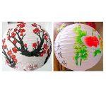 [Prune & printemps] Lot de 2Peint à la main Home Decor -- Abat-jour, chinois lanterne de la marque Blancho image 1 produit