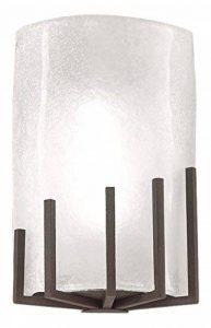 Pujol éclairage Mans applique murale-Lampe halogène 150 Watts diffuseur verre finition oxyde de la marque Pujol Iluminación image 0 produit