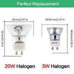 Pursnic GU10 Ampoule LED 3W, blanc chaud 3000K Idéal pour remplacer 20W Halogène GU10 Spot Led avec 2 ans de garantie, paquet de 6 unités de la marque Pursnic image 1 produit