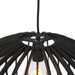QAZQA Art Déco Suspension/Lustre / Luminaire/Lumiere / Éclairage ronde art déco noire en bois 50cm - Twain Rond Compatible pour LED E27 Max. 1 x 40 Watt/intérieur / Chambre á coucher/Cuisine de la marque QAZQA image 2 produit