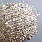 QAZQA Design/Moderne / Salle a manger suspension/Lustre / Luminaire/Lumiere / Éclairage Hatch 45 blanc Bois/Metal / Rond Compatible pour LED E27 Max. 1 x 60 Watt/intérieur / Chambre á couche de la marque QAZQA image 4 produit