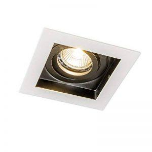 QAZQA Design/Moderne / Spot encastré/encastrable Carree blanc Aluminium Carré Compatible pour LED GU10 Max. 1 x 50 Watt/Luminaire / Lumiere/Éclairage / intérieur/Chambre á coucher/Cuisine de la marque QAZQA image 0 produit