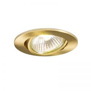 QAZQA Design / Moderne / Spot à encastrer / encastrables Cisco or / dorée / d'or mat Aluminium Rond Compatible pour LED GU10 Max. 1 x 50 Watt / Luminaire / Lumiere / Éclairage / intérieur / Chambre á de la marque QAZQA image 0 produit