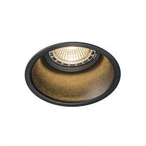 QAZQA Design/Moderne / Spot à encastrer/encastrables Dept noire Aluminium Rond Compatible pour LED GU10 Max. 1 x 50 Watt/Luminaire / Lumiere/Éclairage / intérieur/Chambre á coucher/Cuisine de la marque QAZQA image 0 produit