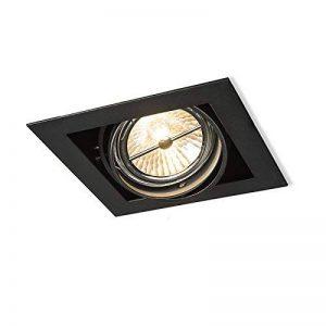 QAZQA Design/Moderne / Spot à encastrer/encastrables Oneon 111-1 noir Metal Carré Compatible pour LED G53 Max. 1 x 50 Watt/Luminaire / Lumiere/Éclairage / intérieur/Chambre á coucher/Cuisi de la marque QAZQA image 0 produit