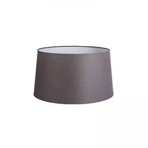 QAZQA Lin Abat-jour 45cm rond DS E27 lin marron gris , Rond oblique Abat-jour Lampadaire, Abat-jour Suspendu , / Salon de la marque QAZQA image 0 produit
