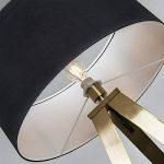 QAZQA Moderne Lampadaire/Lampadaire/Lampe Sur Pied/Lampe/Lampe Tripe/Trépied/trois pieds laiton avec abat-jour noir/éclairage intérieur/salon/chambre/Cuisine Métal/Textile de la marque QAZQA image 3 produit