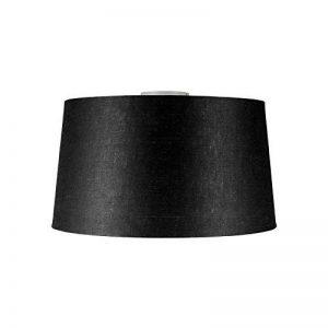 QAZQA Moderne Plafonnier Combi blanc mat avec abat-jour 45cm noir Plastique/Metal / Rond Compatible pour LED E27 Max. 1 x 60 Watt/Luminaire / Lumiere/Éclairage / intérieur/Chambre á coucher / de la marque QAZQA image 0 produit