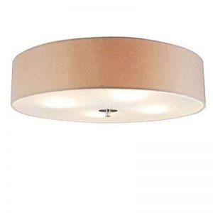 QAZQA Moderne Plafonnier Drum rond 50cm beige Verre/Metal/Tissu/Rond Compatible pour LED E27 Max. 4 x 40 Watt/Luminaire/Lumiere/Éclairage/intérieur/Chambre á coucher de la marque QAZQA image 0 produit