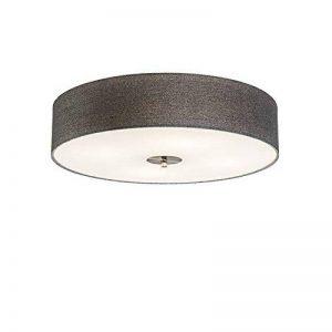 QAZQA Moderne/Rustique/Plafonnier Drum 50 jute gris Verre/Metal/Tissu/Rond Compatible pour LED E27 Max. 4 x 40 Watt/Luminaire/Lumiere/Éclairage/intérieur/Chambre á coucher/Cuisin de la marque QAZQA image 0 produit