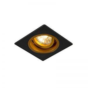 QAZQA Moderne Spot à encastrer/encastrables Chuck carré noir et or Metal Carré Compatible pour LED GU10 Max. 1 x 50 Watt/Luminaire/Lumiere/Éclairage/intérieur/Chambre á coucher/Cuisine de la marque QAZQA image 0 produit