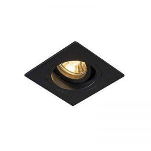 QAZQA Moderne Spot à encastrer/encastrables Chuck carré noir Metal Carré Compatible pour LED GU10 Max. 1 x 50 Watt/Luminaire/Lumiere/Éclairage/intérieur/Chambre á coucher/Cuisine de la marque QAZQA image 0 produit