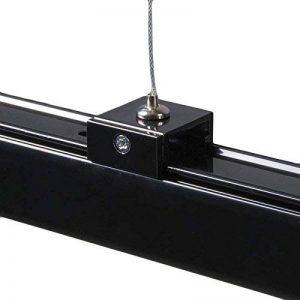 QAZQA Moderne Suspension / Lustre / Luminaire / Lumiere / Éclairage pour rail 3 phases noire Metal Max. x Watt / intérieur / Salon de la marque QAZQA image 0 produit