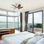 QAZQA Moderne Ventilateur de Plafond avec lumiere blanc - Fresh 30 Verre/Bois / Metal/Rond Compatible pour LED E14 Max. 1 x 60 Watt/Luminaire / Éclairage/intérieur / Chambre á coucher/Cuisin de la marque QAZQA image 2 produit