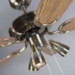 QAZQA Moderne Ventilateur de Plafond avec lumiere bronze - Mistral 42 Bois/Metal / Rond Compatible pour LED GU10 Max. 3 x 50 Watt/Luminaire / Éclairage/intérieur / Chambre á coucher/Cuisine de la marque QAZQA image 4 produit