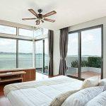 QAZQA Moderne Ventilateur de Plafond avec lumiere bronze - Mistral 42 Bois/Metal / Rond Compatible pour LED GU10 Max. 3 x 50 Watt/Luminaire / Éclairage/intérieur / Chambre á coucher/Cuisine de la marque QAZQA image 2 produit