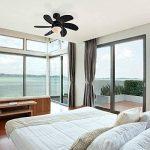 QAZQA Moderne Ventilateur de Plafond avec lumiere Fresh 30 noir Verre / Bois / Metal / Rond Compatible pour LED E14 Max. 1 x 60 Watt / Luminaire / Éclairage / intérieur / Chambre á coucher / Cuisine de la marque QAZQA image 2 produit