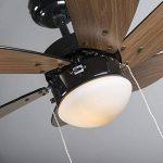 QAZQA Moderne Ventilateur de Plafond avec lumiere Fresh 30 noir Verre / Bois / Metal / Rond Compatible pour LED E14 Max. 1 x 60 Watt / Luminaire / Éclairage / intérieur / Chambre á coucher / Cuisine de la marque QAZQA image 3 produit