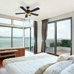 QAZQA Moderne Ventilateur de Plafond avec lumiere noir - Mistral 42 Bois/Metal / Rond Compatible pour LED GU10 Max. 3 x 50 Watt/Luminaire / Éclairage/intérieur / Chambre á coucher/Cuisine de la marque QAZQA image 3 produit