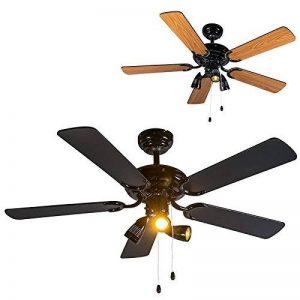 QAZQA Moderne Ventilateur de Plafond avec lumiere noir - Mistral 42 Bois/Metal / Rond Compatible pour LED GU10 Max. 3 x 50 Watt/Luminaire / Éclairage/intérieur / Chambre á coucher/Cuisine de la marque QAZQA image 0 produit