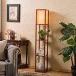 QIANGUANG® Lampadaire en bois de 1,6 m avec étagères pour chambre et salon (sans ampoule) (Brown) de la marque QIANGUANG image 1 produit
