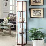 QIANGUANG® Lampadaire en bois de 1,6 m avec étagères pour chambre et salon (sans ampoule) (Brown) de la marque QIANGUANG image 2 produit