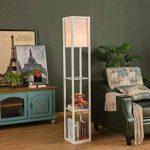 QIANGUANG® Lampadaire en bois de 1,6 m avec étagères pour chambre et salon (sans ampoule) (White) de la marque QIANGUANG image 1 produit