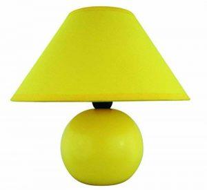 Rabalux Ariel Lampe de Table, Céramique Textile, Jaune, E14 40W de la marque Rabalux image 0 produit