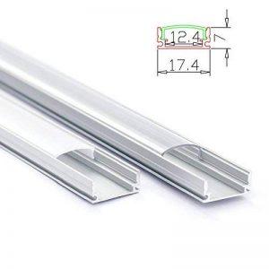 Rail profilé en aluminium profil Alu Rail Couverture en aluminium pour bande LED, 2m opal de la marque Unbekannt image 0 produit