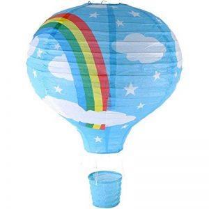 Rainbow Lampe de Plafond Montgolfière (Lanterne-Abat-jour en Papier-Bleu de la marque Gadget and Gift Zone image 0 produit