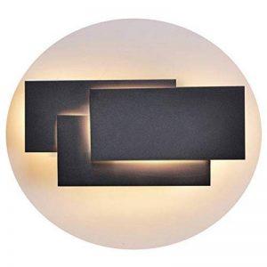 Ralbay Applique Murale Intérieur, 12W Moderne LED Applique Design Carrée pour Chambre/Escalier / Sallon/Bureau / Porche/Passerelle, Blanc Chaud 2700~3200K, IP20, Noir de la marque Ralbay image 0 produit