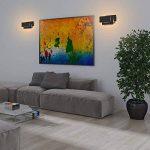 Ralbay Applique Murale Intérieur, 12W Moderne LED Applique Design Carrée pour Chambre/Escalier / Sallon/Bureau / Porche/Passerelle, Blanc Chaud 2700~3200K, IP20, Noir de la marque Ralbay image 2 produit