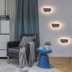 Ralbay Applique Murale Intérieur, 12W Moderne LED Applique Design Carrée pour Chambre/Escalier / Sallon/Bureau / Porche/Passerelle, Blanc Chaud 2700~3200K, IP20, Noir de la marque Ralbay image 4 produit