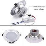Ralbay LED Spots Encastrables, Eclairage encastré Lampe de plafond Blanc Chaud Plafonnier Encastré 7W 1100LM Equivalente de 40W Ampoule, 220V,IP44, Non Dimmable, Lot de 2 de la marque Ralbay image 2 produit