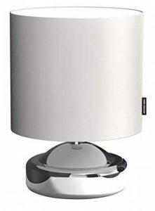 Ranex 6000.474 Lampe à Poser Touch Collection Miro Métal Tissu / Chrome et Blanc de la marque RANEX image 0 produit